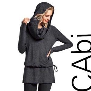 CAbi Grey Cropped Hoodie Sz.M